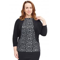 Блуза Pretty Woman «Вилла Россе». Цвет: черный, серебряный