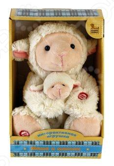 Игрушка интерактивная мягкая Fluffy Family «Мама и малыш. Овечка» мягкая игрушка fluffy family мама и малыш овечка искусственный мех белый 26 см 681018