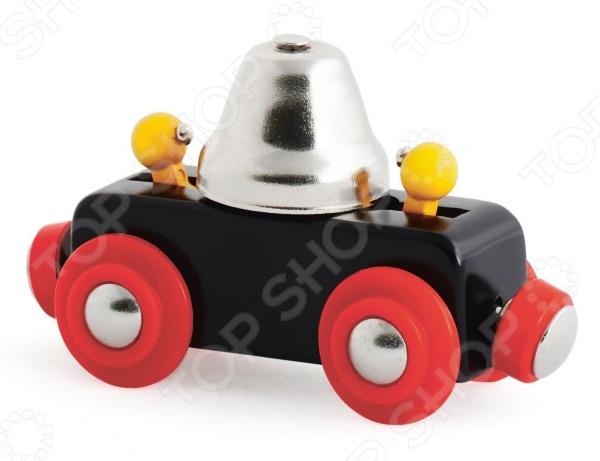 Вагончик игрушечный Brio с колокольчиком 33749 погрузчик с вращением с магнитом блист brio