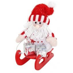 фото Игрушка новогодняя Новогодняя сказка «Дед Мороз на санках»