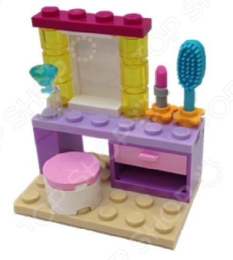 Конструктор LEGO «Туалетный столик»Конструкторы LEGO<br>Не секрет, что конструкторы LEGO являются одними из самых популярных и продаваемых игрушек в мире. Компания LEGO Group начала свое существование еще 1932 году и до сих пор не сдает лидирующих позиций, ежедневно расширяя свое производство и сферу деятельности. Конструкторы этого бренда отличаются великолепным качеством исполнения и большим разнообразием игровых сюжетов. Конструктор Lego Туалетный столик станет отличным подарком для вашего любимого чада и прекрасным дополнением к коллекции уже имеющихся игрушек LEGO. В игровой набор входит туалетный столик с зеркальцем, расческа, губная помада, духи т.д. Рекомендовано для детей в возрасте от 5-ти лет.<br>