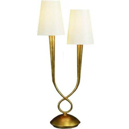 Купить Настольная лампа декоративная Mantra Paola Painted Gold