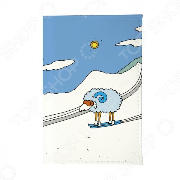 Обложка для паспорта Mitya Veselkov «Овечка в горах» обложка для паспорта кожаная mitya veselkov овечка в горах
