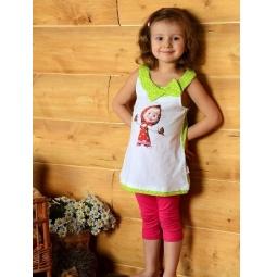 фото Майка для девочек Detiland SS14-CVV-GTP-446. Цвет: белый. Рост: 104 см