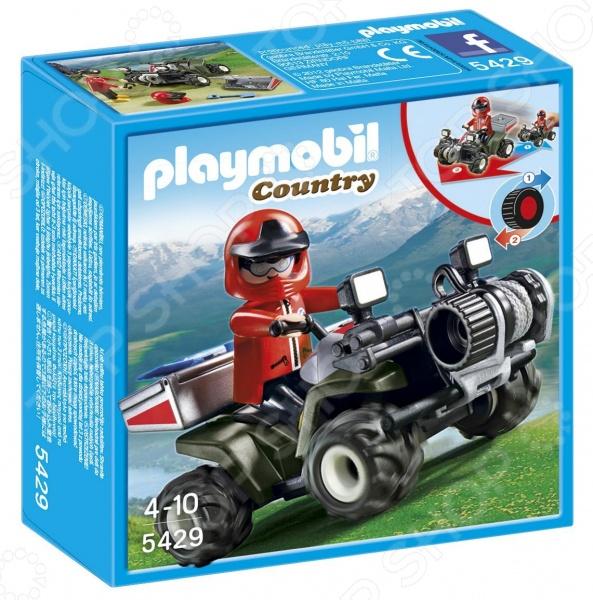 Набор игровой Playmobil «В горах: Спасательный квадроцикл»