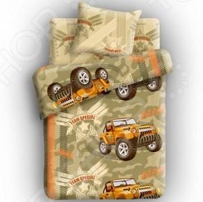 фото Комплект постельного белья 4You Армейский внедорожник, Детские комплекты постельного белья