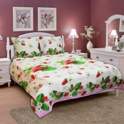 фото Комплект постельного белья Amore Mio Strawberry. Naturel. Евро