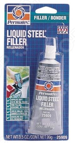 Клей-шпаклевка по металлу Permatex PR-25909 «Жидкая сталь» клей шпаклевка по металлу permatex pr 25909 жидкая сталь