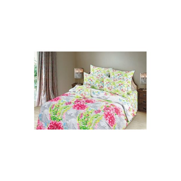 фото Комплект постельного белья Романтика «Парадиз». 2-спальный. Размер простыни: 220х214 см. Размер наволочки: 70х70 см — 2 шт