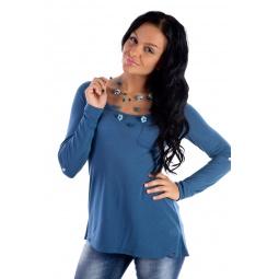 фото Кофта Mondigo 18502. Цвет: джинсовый. Размер одежды: 44