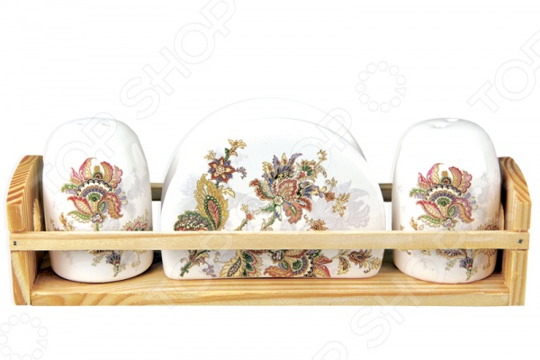 Набор для специй и салфетница Коралл «Марокканский цветок» набор бокалов для бренди коралл 40600 q8105 400 анжела