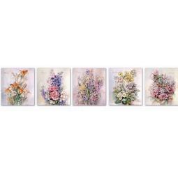 фото Тетрадь в клетку с голографией Феникс «Весенние цветы». В ассортименте