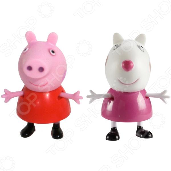 Набор из двух мини-фигурок Росмэн «Пеппа и Сьюзи»Фигурки супергероев и других персонажей<br>Набор из двух мини-фигурок Росмэн Пеппа и Сьюзи станет великолепным подарком для юных поклонников популярного мультфильма Свинка Пеппа . С этими забавными игрушками веселые путешествия и любимые персонажи оживут прямо у вас дома, а малыш сможет самостоятельно придумывать и развивать замысловатые сюжетные линии с их участием. В набор входят 2 фигурки: самой Пеппы и её веселой подружки Сьюзи. Фигурки могут сидеть, стоять, двигать ручками и ножками, поэтому играть с ними будет ещё интересней. Игрушки изготовлены из безопасного и высококачественного пластика.<br>