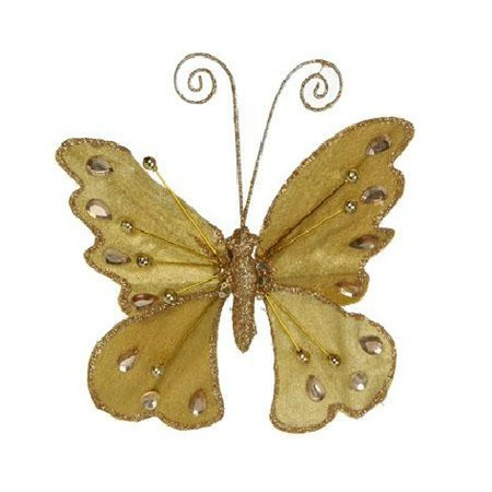 Купить Елочное украшение Christmas House «Бабочка на прищепке»