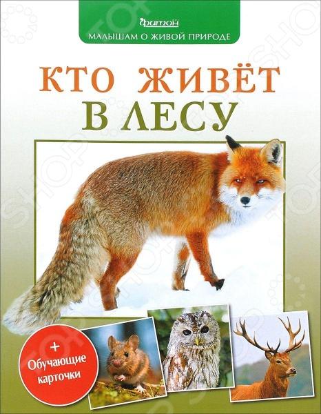 Кто живет в лесу (+ обучающие карточки)Животные. Растения. Природа<br>Серия книг Малышам о живой природе предназначена для чтения взрослыми детям. Карточки с картинками позволяют использовать книгу и для развивающих игр. Каждая книга все шире открывает вашему ребенку окно его детской комнаты. Особенность серии - крупный шрифт, современные фотографии, сделанные с учетом специфики восприятия маленького ребенка, приятная на ощупь плотная бумага. Книга Кто живет в лесу населена грациозными оленями, юркими белками, крошками землеройками, шумными дятлами и хищными совами. И у каждой птицы и зверя свои привычки и характеры.<br>