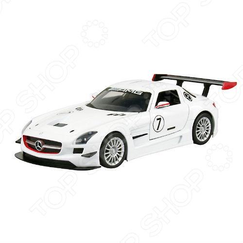 Модель автомобиля 1:24 Motormax GT Racing Mercedes Benz SLS АMG GT3 welly 84002 велли радиоуправляемая модель машины 1 24 mercedes benz sls amg