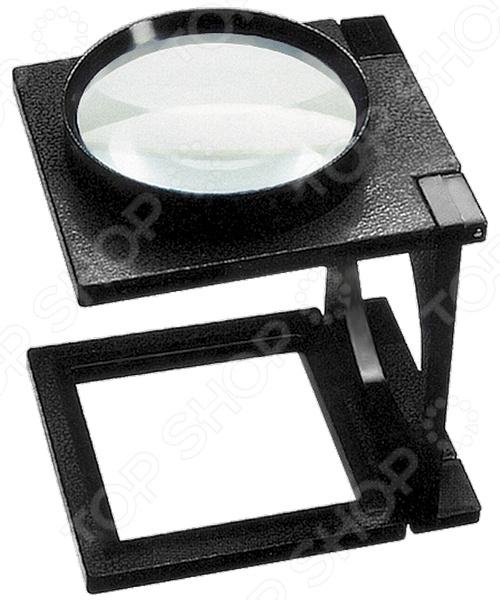 Лупа складная с подставкой SPARTA 913755Другие вспомогательные инструменты и оборудование<br>Лупа SPARTA 913755 это оптический прибор, используемый для выполнения мелких работ, требующих максимального увеличения. Представленная модель пригодится при проектировании различных устройств, осмотре и ремонте ювелирных изделий, пайке микросхем и пр. Линза расположена в пластиковом корпусе, который легко раскладывается в удобную подставку.<br>