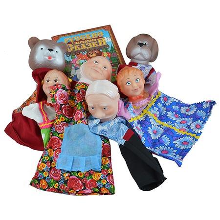 Купить Набор для кукольного театра Русский стиль «Маша и медведь» 40597. В ассортименте