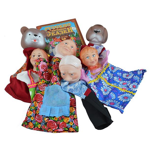 фото Набор для кукольного театра Русский стиль «Маша и медведь» 40597. В ассортименте