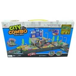фото Набор игровой для мальчика Shantou Gepai «Полицейский участок с парковкой». В ассортименте