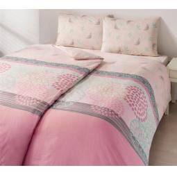 фото Комплект постельного белья TAC Emma. Семейный. Цвет: розовый