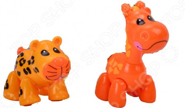 Набор фигурок 1 Toy «Жираф и леопард»Игрушечные животные<br>Набор фигурок 1 Toy Жираф и леопард замечательный подарок для любознательного ребенка, займет достойное место на полке игрушек в детской комнате. Игрушки отличаются ярким видом, поэтому игра с ними будет интересной, поможет вашему ребенку познакомиться с миром животных, выучить их названия, ознакомиться с их внешним видом. Игрушки выполнены из качественных материалов, безопасных для здоровья ребенка.<br>