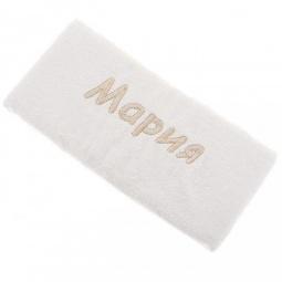фото Полотенце подарочное с вышивкой TAC Мария. Цвет: молочный