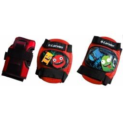 фото Защита роликовая Larsen Monsters. Цвет: красный. Размер: XS