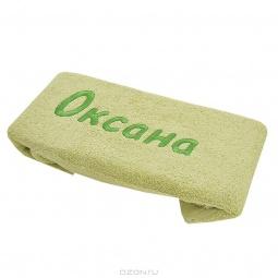 фото Полотенце подарочное с вышивкой TAC Оксана. Цвет: зеленый