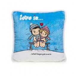 фото Подушка декоративная Love is... «What keeps you warm»