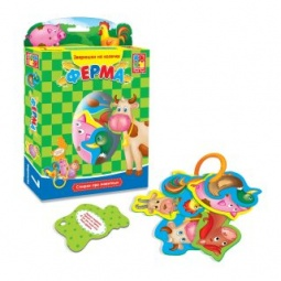 фото Книжка-игрушка Vladi Toys на кольцах «Ферма»