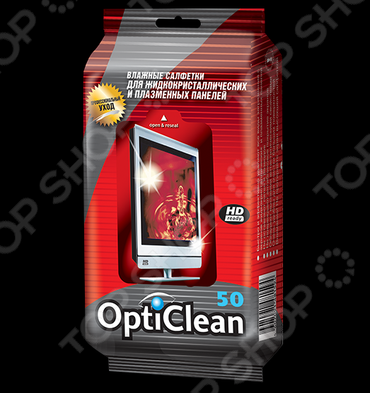 Салфетки влажные Opti Clean для плазменных и ЖК-телевизоров 1 more triple driver in ear earphones earbuds for ios and android xiaomi phone compatible microphone and remote e1001 titanium