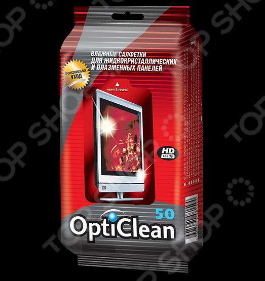 Салфетки влажные Opti Clean для плазменных и ЖК-телевизоров вспышка nissin i 40 for sony