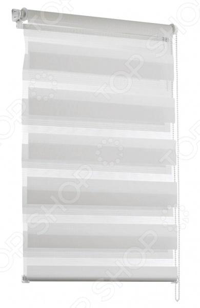 Миниролло Эскар «День-Ночь». Размер: 83х150 см. Цвет: белый. Уцененный товар