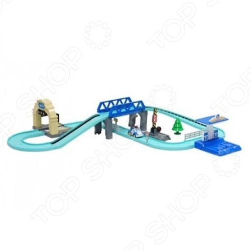 Набор игровой для мальчика Poli Средний трек с Умной машинкой» игрушка poli набор инструментов на пояс с машинкой
