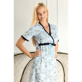 Купить Сорочка для беременных Nuova Vita 206.3. Цвет: голубой, синий