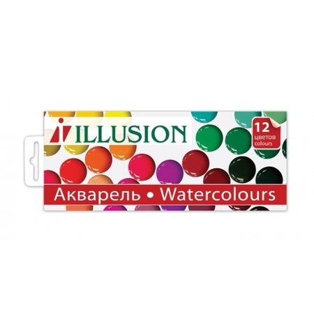 Купить Акварель Гамма Illusion: 12 цветов