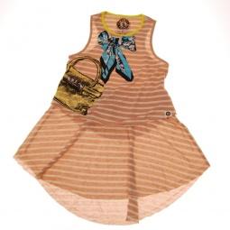 фото Платье с аппликацией Mini Shatsu Turquoise Bow&Neon Bag. Рост: 122-128 см