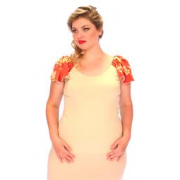 Блуза СВМ-ПРИНТ «Орианна». Цвет: бежевый