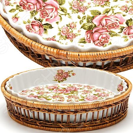 Форма для запекания керамическая Mayer&Boch «Узор» MB-24807 форма для выпекания керамика kitchenaid набор kblr02mbac 2шт по 0 45л
