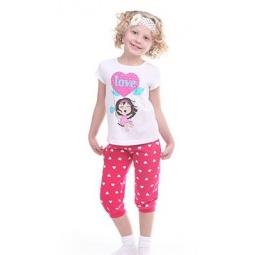 фото Комплект для девочки: джемпер и капри Свитанак 606503. Рост: 110 см. Размер: 30