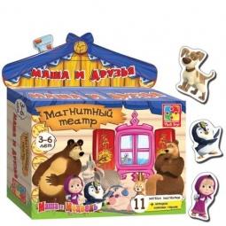 фото Игра развивающая на магнитах Vladi Toys «Магнитный театр. Маша и Друзья»