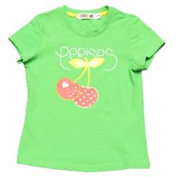 фото Футболка для девочек Detiland SS15-UBL-GTS-967. Цвет: зеленое яблоко. Рост: 104 см