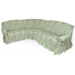 Натяжной чехол на классический угловой диван «Фантазия. Феличита»