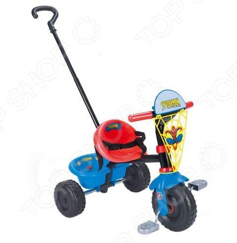 Велосипед детский 3-х колесный Smoby 444138 I станет отличным выбором для внимательных родителей, которые заботятся о безопасности малыша, ведь позади велосипеда имеется специальная съемная ручка для управления детским транспортом, которая для удобства может изменяться по длине. Руль поворачивается в обе стороны на 30 градусов, но может также быть зафиксирован в прямом положении. Расстояние между сиденьем и педальками регулируется в трех положениях. Кроме того, сиденье оснащено ремнями безопасности.