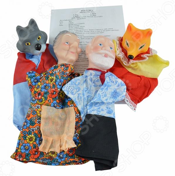 Набор для кукольного театра Русский стиль «Волк и лиса» 11250. В ассортименте