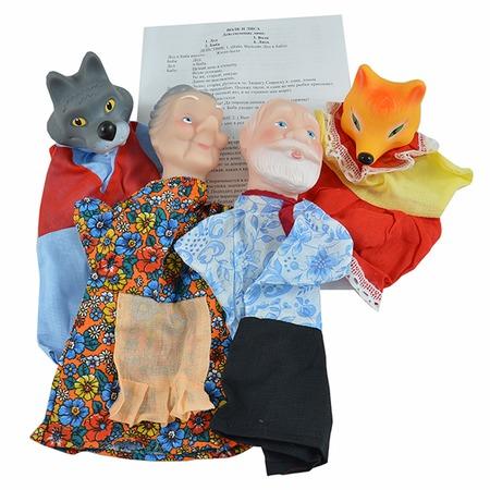 Купить Набор для кукольного театра Русский стиль «Волк и лиса» 11250. В ассортименте