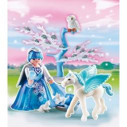 фото Конструктор игровой Playmobil «Принцесса: Сказочная Принцесса Зимы с летающей лошадкой»