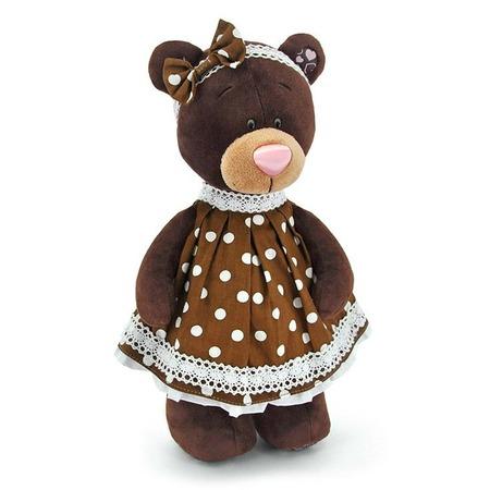 Купить Мягкая игрушка Orange стоячая в платье в горох Milk «Медведь»