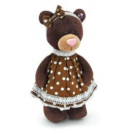 фото Мягкая игрушка Orange стоячая в платье в горох Milk «Медведь»